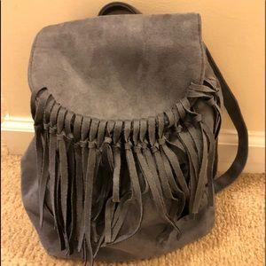 Handbags - Gray Suede Bag